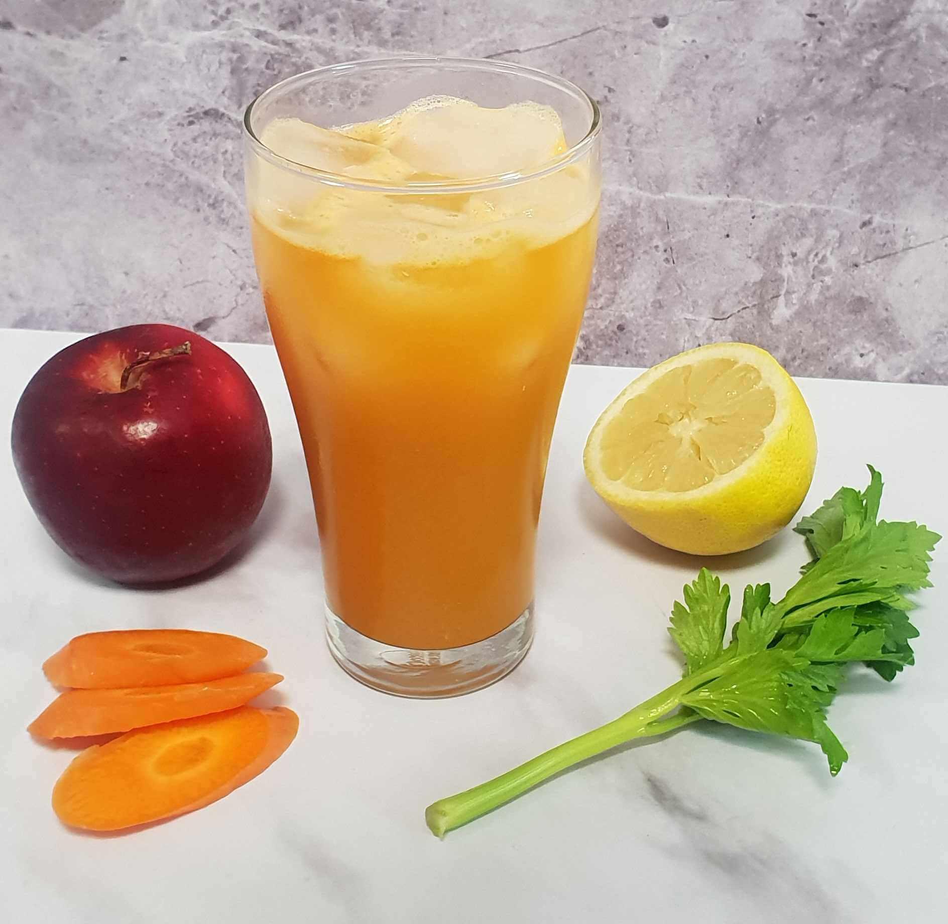 The Sweetydox Juice - Carrot, Apple, and Celery Recipe